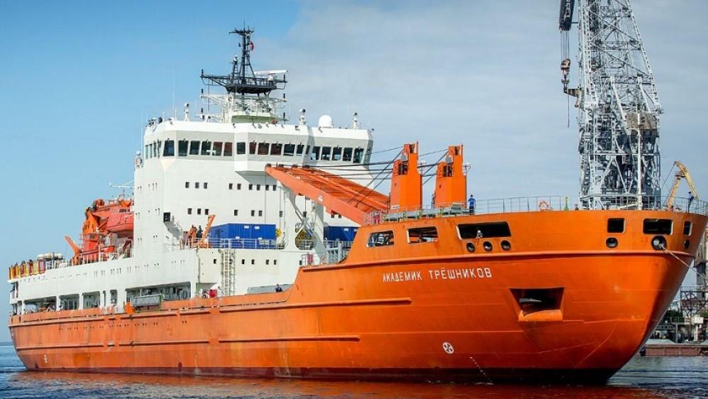 The research vessel akademik tryoshnikov at port