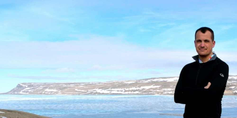 Paul Sokoloff during a botany expedition to Cunningham Inlet, on the north coast of Somerset Island, Nunavut, in 2013