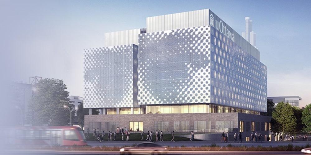 Photo of future STEM building