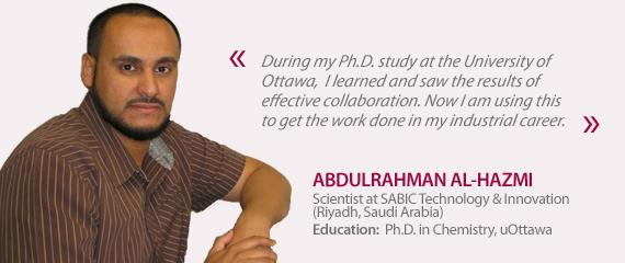 Testimonial from Abdulrahman Al-Hazmi
