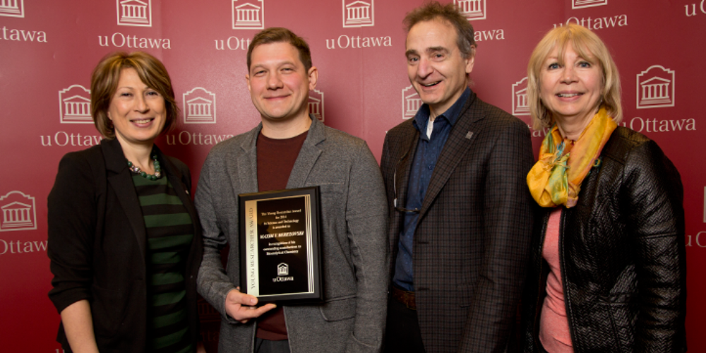 Prof. Maxim Berezovski - winner of teh Young Researcher of the Year Award
