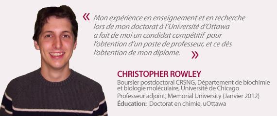 Témoignage de Christopher Rowley