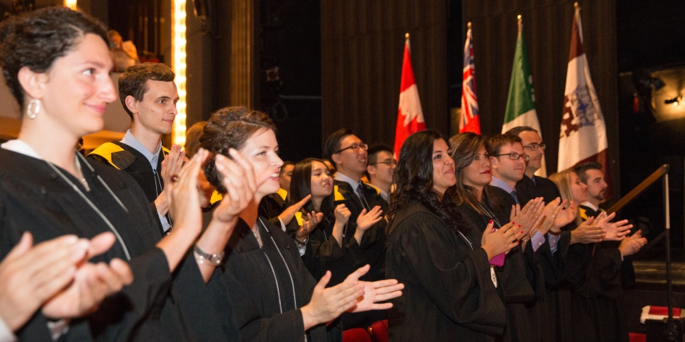 Students at the Spring Convocation