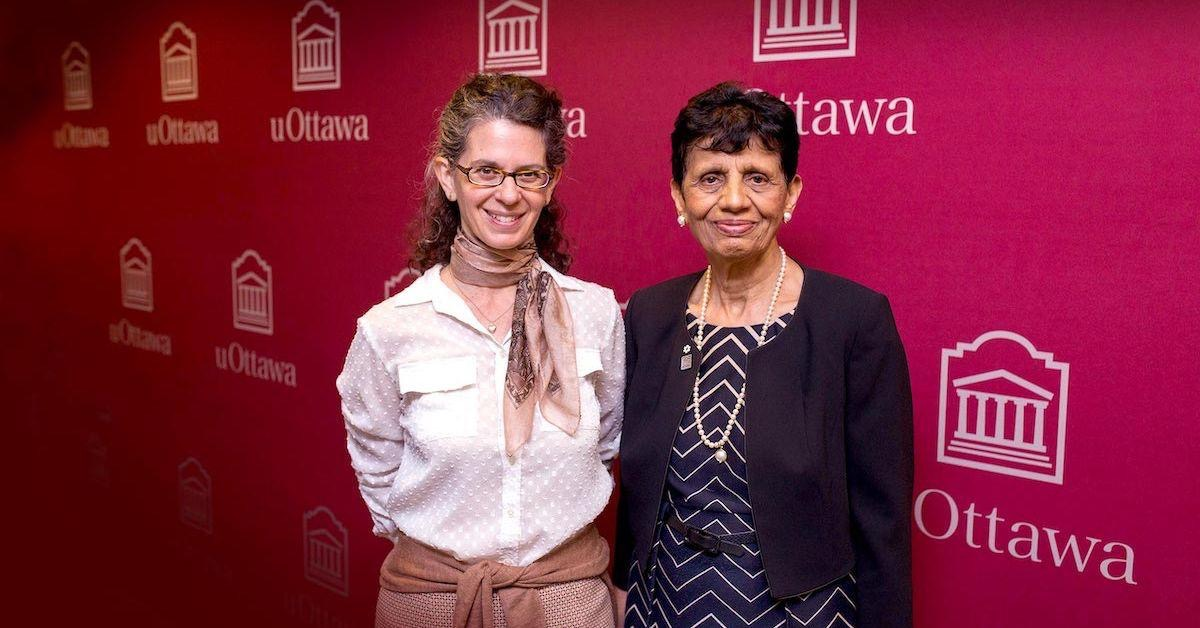 Dianne Newman and Veena Rawat at Spring 2019 Convocation