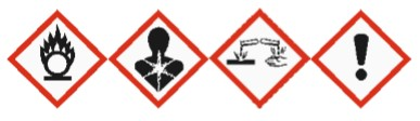 perchloric acid hazardous logo