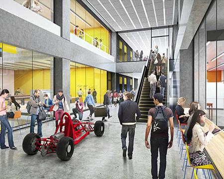 Inside of future STEM building
