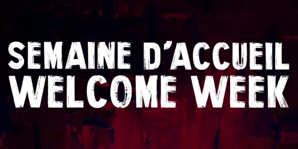 Welcome week logo